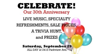 Kazoo Books 30th Anniversary Party!