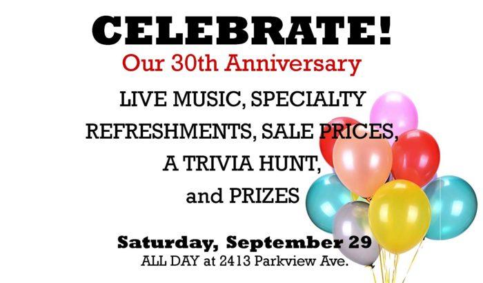 Kazoo Books 30th Anniversary Party!