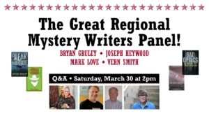 The Great Regional Mystery Writers Panel! @ Kazoo Books