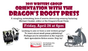 2019 Writers Group Orientation with the Dragon's Roost Press @ Kazoo Books