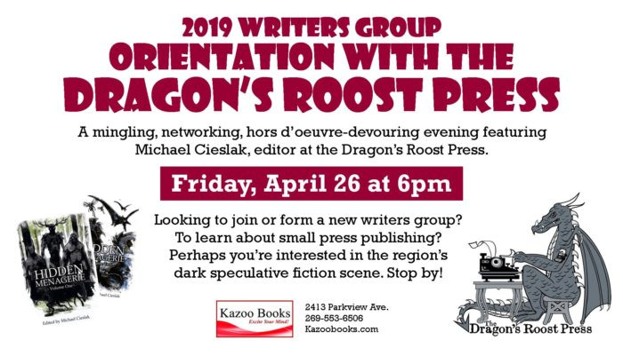 2019 Writers Group Orientation with the Dragon's Roost Press